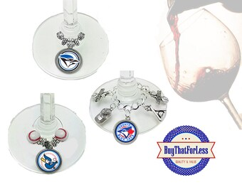 TORONTO Wine or Bottle Charms, Napkin Rings, Set of 6, U Choose Style +FREE SHiPPING & Discounts*