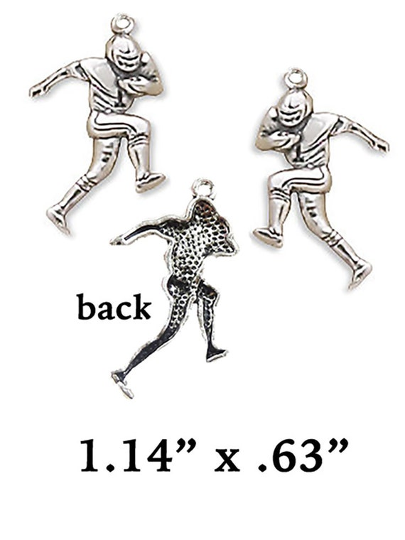 Football Player Charms, 4 pcs  **FREE Shipping with orders 10 dollars+ **