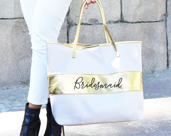 Bridesmaid Tote Bag - Tote Bag - Bride - Bridesmaid - Maid of Honor
