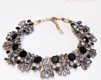 NOIR Rhinestone Necklace by prishanna