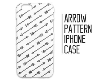 Arrow Pattern Phone Case for iPhone 7 Plus 6 6s 5 5s 5c SE + Samsung S6 S7 Black and White