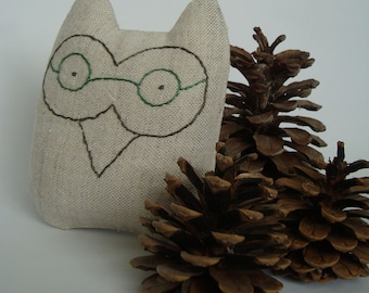 "Decor item, children's eco toys, textile doll, the souvenir, the mascot ""OWL"""