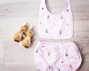 Bunny Bloomers, Easter, Easter outfit, My first Easter, Bloomers, Baby bloomers, Bib