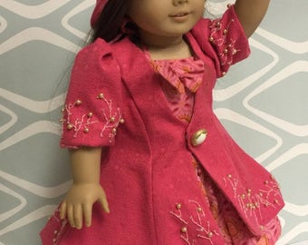 AG Doll Coat and 50s Halter Dress