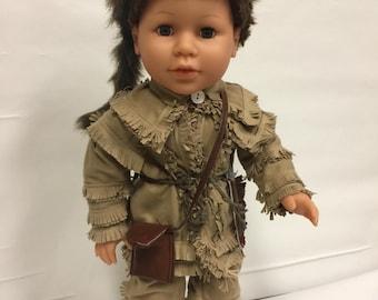 18 inch Boy Doll Daniel Boone Costume