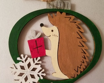 Hedgehog Christmas ornament 2017