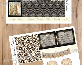 Lancelot and Guinevere for Happy Planner and Erin Condren