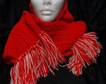 Crochet Red Scarf