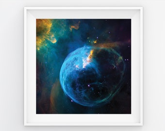 Awesome Space Poster The Bubble Nebula, astronomy poster, star poster, comes in many sizes!