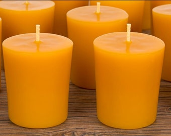 Votive Mango Butter  Scent Bees Wax Candle (Set of 10, 20 or 30)