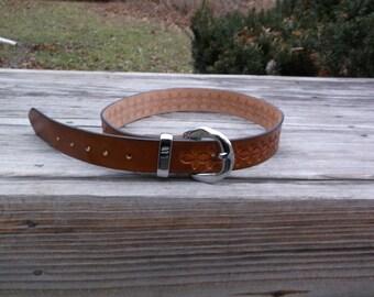 Hand Tooled Leather Belt Design 2
