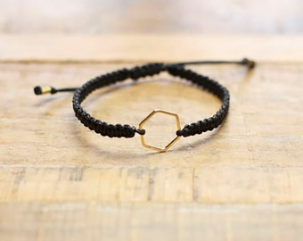 Hexagon Shape Braided Bracelet