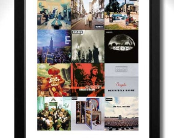 OASIS Vinyl Albums Limited Edition Unframed Art Print - A3 size poster