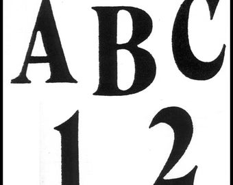 """TRACEABLE ALPHABET #113 -  2"""" and 1.5"""" All Capital & Small Letters and Numbers"""