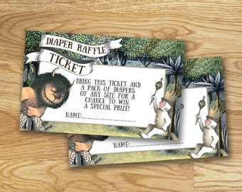 Where The Wild Things Are Diaper Raffle
