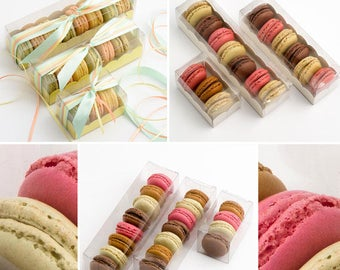 Macaron Boxes, Wedding Snack Box, Clear Macaron Boxes, Macaron box with Insert, Macaroon Boxes, Cookie Boxes, Mini Dessert Box