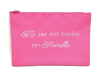 "Kit / ""life is beautiful family"" gift bag ideal for mother's day and all moms"