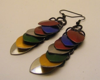 Chainmail Scale Earrings