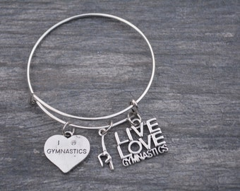 Gymnastics Gift -Gymnastics Bracelet – Gymnastics Gift - Perfect for Gymnasts, Gymnastics Coaches & Team Gifts