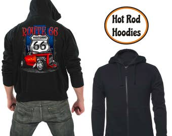 Zipper hoodie Route 66 hot rod