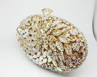 Diamond clutch, Crystal clutch, Wedding clutch, Bridal clutch, Evening clutch, Prom clutch, Party clutch, Womens clutch, Gold clutch, clutch