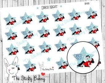 Disco Night - Planner Stickers for Erin Condren, Happy Planner, Kikkik, Filofax (S103)