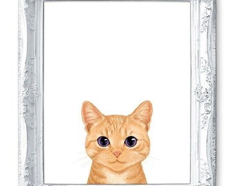 Kitten Print, Tabby Cat Print, Kitten Painting, Giclee Print, Animal Illustration, Cat Illustration, Cat Home Decor, Cat Drawing, Cat Gift