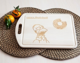 Homer Simpson cutting board | Simpsons inspirited | Simpsons kitchen Decorations | Simpsons Decor | Simpsons Gifts