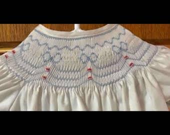Smocked bishop dress