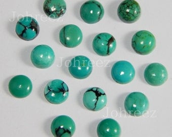 25 Pieces Natural Turquoise Cabochon Round Shape Loose gemstone Smooth polished High Quality Gemstone
