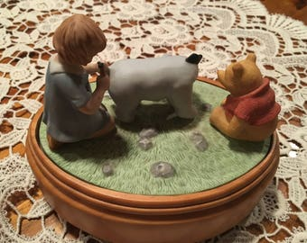 Winnie the Pooh Music Box with Pooh, Eeyore and Christopher Robin