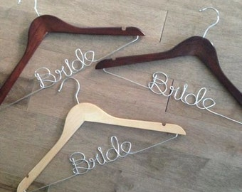 Bride Hanger / Bridal Hanger / Wire Bride Hanger / Wedding Dress Hanger / Groom Hanger