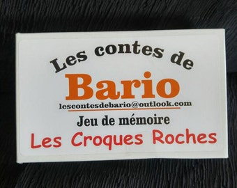 The Croques rocks of tales of Bario children's memory game