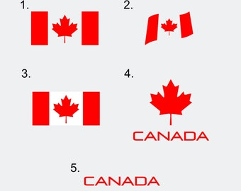 Canada Flag Decals - Canada Decals - Canadian Flag - Various Designs