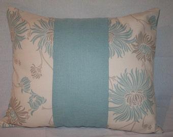 Cushion Cover Laura Ashley Kimono Duck Egg Blue Fabric