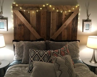 Barn Door Headboard or Wall Art - The Emily -Free Shipping