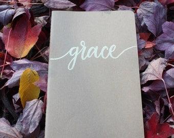 word of the year custom embossed journal