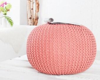 Bean Bag Pouf Footrest Ball Knit Crochet Poof Ottoman