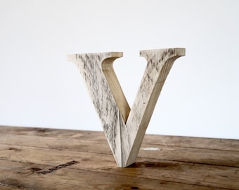 Rustic Wooden Letters - Handmade 20cm