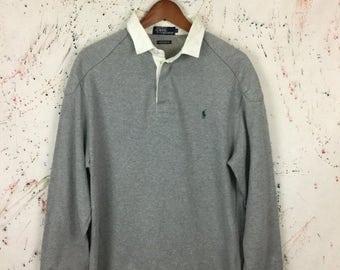 SALE 25% Vintage Polo Ralph Lauren Rugby Shirt Size L