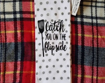 Flipside kitchen tea towel