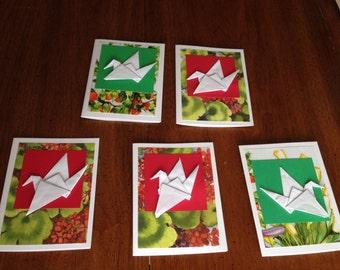 Flower Cranes (set of 5)