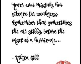 Nikita Gill Quote Digital Print