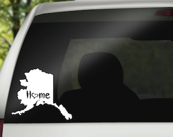 Alaska Decal, State Decal, Home Decal, State Car Decal, Laptop Decal, Tumbler Decal, Home Car Decal, Vinyl Decal, Water Bottle Decal
