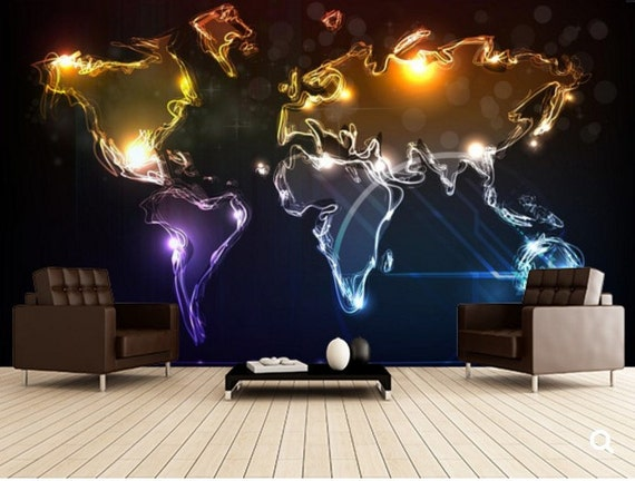 City Map Wallpaper Street Wall Mural Map Wall Decal - Map wall mural decal
