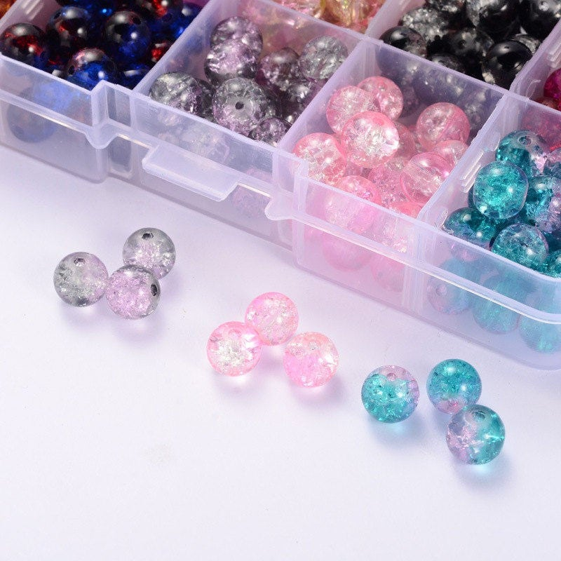 how to make crackle glass beads