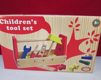 Childrens Wooden Toolbox with tools - Engraving Available