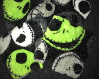 Disney Halloween Christmas Nightmare Before Christmas Jack Skellington Fleece Fabric Coasters