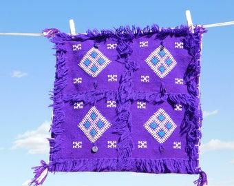 Purple small Berber wedding cushion covers