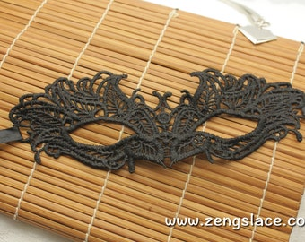 Masquerade Party Mask, Lace mask, Black Venice Lace Mask, Carnival mask, Eye Mask, Costume Party Mask, Italian Mask, Halloween Mask, LM-9-BL